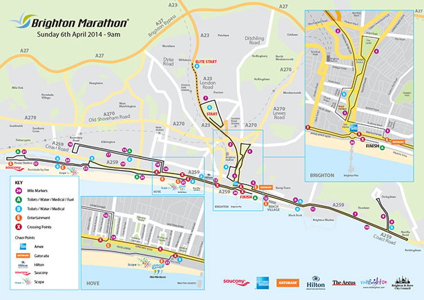 Brighton Marathon Course 2014