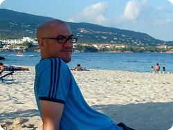 Paul on the beach