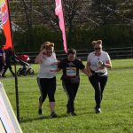 Ruth, Aileen and Helen nearing the finish at the Big Fun Run for brain tumour support