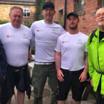 Brain tumour survivors Ian, Dan, Graydon and Richard took on Hadrian's Wall for brain tumour support.