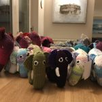 Crafty supporters knit a herd of elephants for little brainstrust