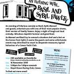 An Evening with Basil and Sybil Fawlty – comedy fundraiser on the Isle of Wight