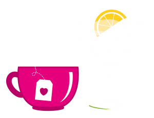 tea cup and gin glass