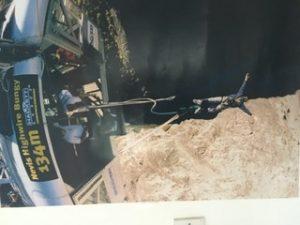Chris bungee jumping